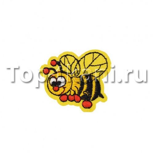 Термоаппликация - Пчелка Жужу (4х3,5 см) - ЦЕНА ЗА 1 ШТ