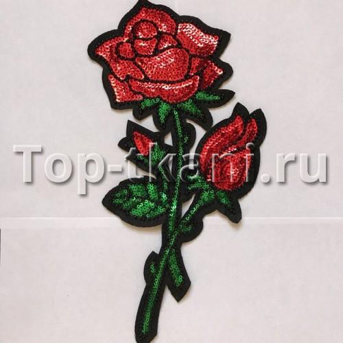 Аппликация пришивная Роза (10,5*28 см)