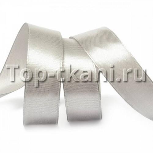 Лента атласная IDEAL - Серая - ширина 25 мм (цена за 1 м)