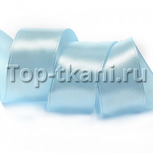 Лента атласная IDEAL - бледно-голубой, ширина 25 мм