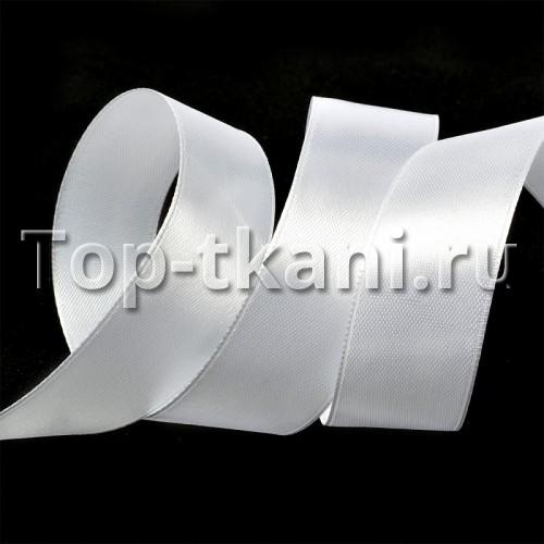 Лента атласная IDEAL - Кипенно-белый - ширина 25 мм (цена за 1 м)