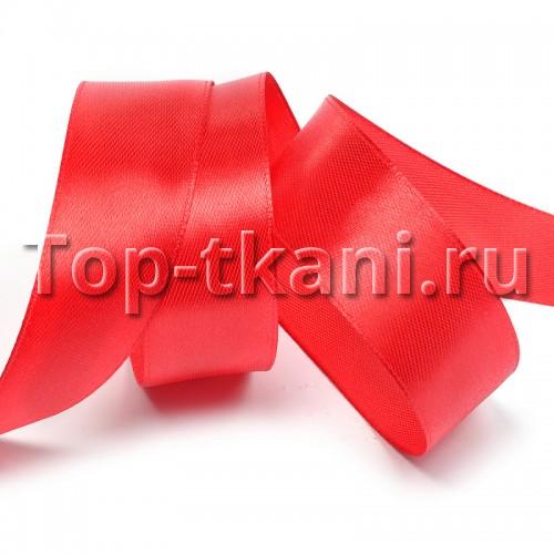 Лента атласная IDEAL - Красный, ширина 25 мм