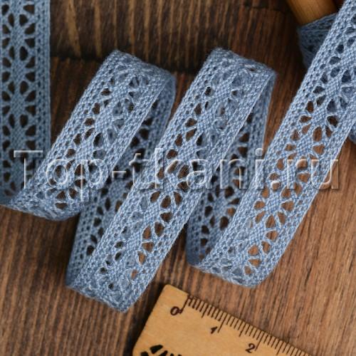 Тесьма вязаная - Голубая (15 мм,  ЦЕНА ЗА 1 метр)