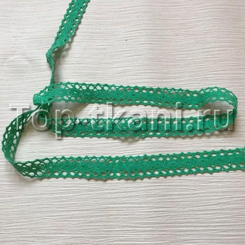 Тесьма вязаная зеленая (20 мм,  ЦЕНА ЗА 1 метр)