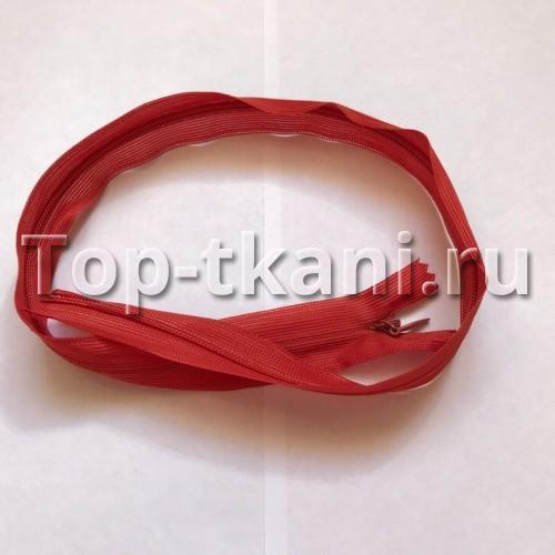 Потайная молния - Красная (длина 50 см, ширина от края до края 2,3 см)