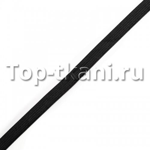Резинка вязаная черная (10 мм, 1 метр)
