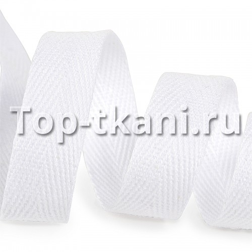 Тесьма киперная белая (15 мм, 1 метр)