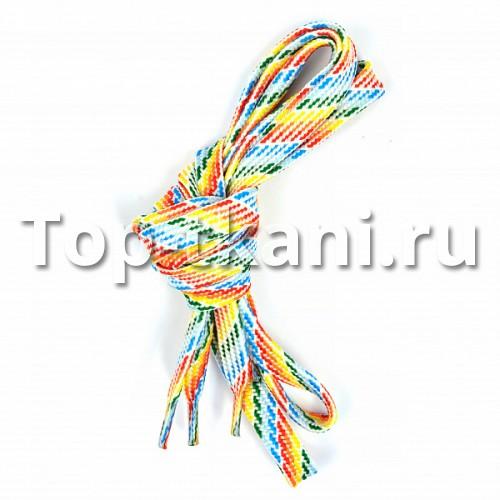 Шнурок плоский - Радуга (1 штука)