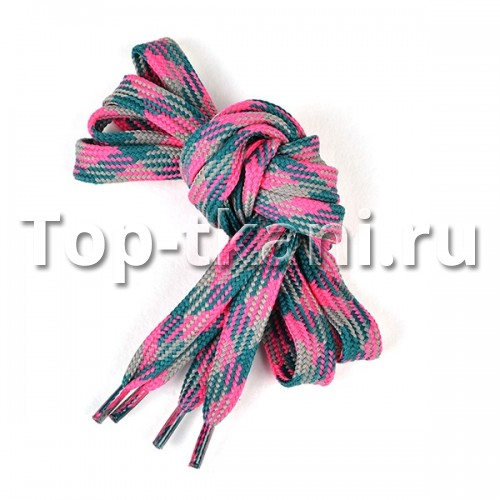 Шнурки плоские - Разноцветные