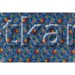 Ситец набивной - Восточные огурцы и цветы (ширина 80 см, 100% Хлопок)