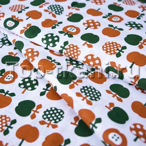 Лоскут Бязь детская - Яблочки (100 см * 150 см)