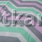 Бязь детская - Зигзаг (цвет розовый, серый, белый, мятный, 100% хлопок, ширина 150 см)