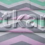 Лоскут Бязь детская - Зигзаг 100 см * 150 см (в наличии несколько штук, уточняйте остаток у продавца)
