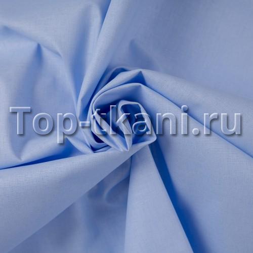 Бязь г/к - Хлое (цвет ниагара, бледно-синий, 100% хлопок, ширина 150 см)