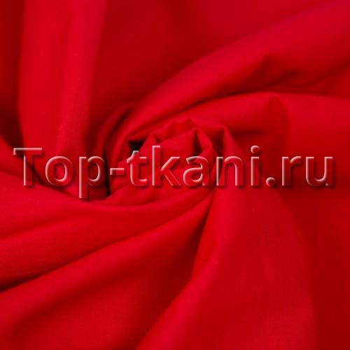 Бязь г/к - Рохо Соле (цвет красный, 100% хлопок, ширина 150 см)