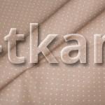 Бязь набивная - Брюль (цвет бежевый, рисунок мелкий горошек, 100% хлопок, ширина 150 см)