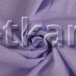 Бязь набивная - Гемми (цвет сиреневый, рисунок мелкий горошек, 100% хлопок, ширина 150 см)