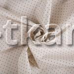 Бязь набивная - Полька (цвет светло-бежевый, с рисунком в мелкий горошек, ширина 150 см)