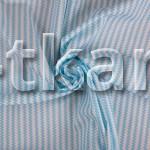 Бязь набивная - Риппл (с рисунком, цвет белый, яркий голубой, ширина 150 см)