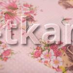 Бязь набивная - Девочки (цвет розовый, с рисунком девочки, 100% хлопок, ширина 150 см)