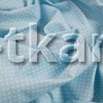 Бязь набивная - Горошек на голубом (цвет голубой, с рисунком мелкий горошек, 100% хлопок, ширина 150 см)