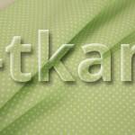 Бязь набивная - Горошек на зеленом (цвет зеленый, салатовый, с рисунком мелкий горошек, 100% хлопок, ширина 150 см)