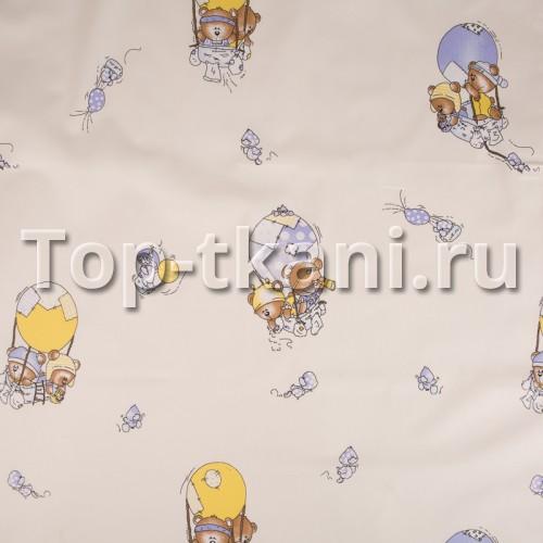 Бязь набивная - На воздушном шаре (ширина 150 см)