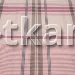 Бязь набивная - Пыльная роза (цвет пыльно-розовый, розовый, серый, с рисунком крупная клетка, ширина 220 см)