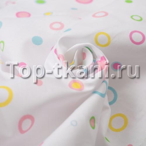 Бязь набивная - Радужные пузыри (ширина 150 см)