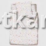 Бязь набивная - Радужные пузыри (компаньон) цвет белый с рисунком, ширина 150 см