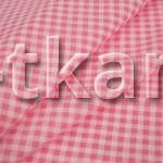 Бязь набивная - Розовая клетка (цвет яркий розовый, ширина 150 см)