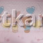 Бязь набивная - Ты и Я (розовый)  - КУПОН 120 см * 150 см