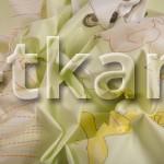 Бязь набивная - Зверята (Салатовый) цвет светло-зеленый, белый, желтый, с детским рисунком, 100% хлопок, ширина 150 см)