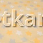 Бязь набивная - Звезды на желтом (цвет желтый, бежевый, серый, белый, с рисунком звезды, 100% хлопок, ширина 150 см)