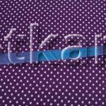 Лоскут Бязь плательная - Мелкий горох на фиолетовом (70 см * 150 см)