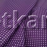 Лоскут Бязь плательная - Мелкий горох на фиолетовом (48 см * 150 см)
