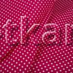 Лоскут Бязь плательная - Мелкий горох на красном (100 см * 150 см)