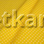 Бязь плательная - Мелкий горох на желтом (ширина 150 см, 100% хлопок)