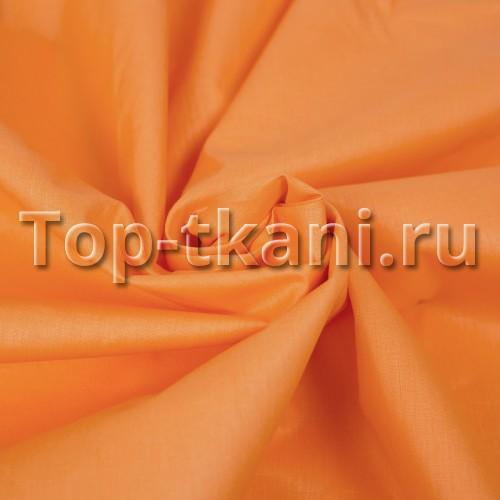 Бязь г/к - Арансия (цвет оранжевый, 100% хлопок, ширина 220 см)