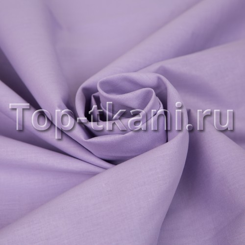 Бязь г/к - Гриделина (цвет сиреневый, 100% хлопок, ширина 220 см)