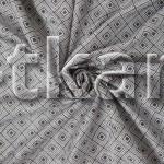 Бязь Традиция - Квадро (цвет стальной и серо-коричневый, с рисунком квадраты, ширина 220 см)
