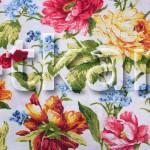 Лоскут Бязь Традиция - Летние мотивы (White) (205 см * 220 см)