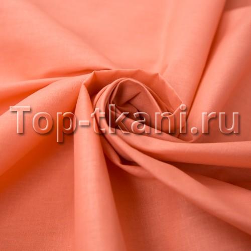 Бязь г/к - Торонья (цвет кирпичный, персиковый, 100% хлопок, ширина 220 см)
