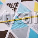 Бязь набивная Традиция - Треугольники (ширина 220 см)