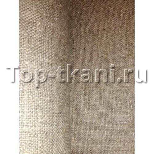 Лен (100%) декоративный - Мешковина 1 сорт (плотный)