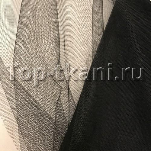Фатин жесткий черный