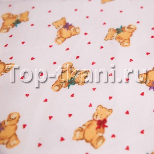 Лоскут фланель детская - Тедди (90 см * 90 см)