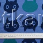 Лоскут Футер 3-х нитка начес - Кошки (60 см * 180 см)