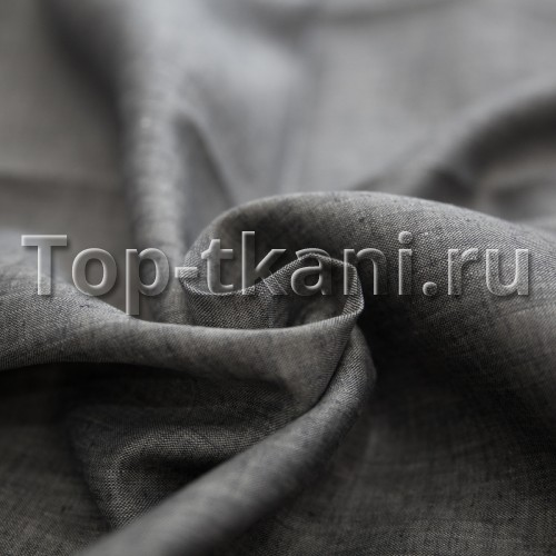 Лен сорочечный - Темно-серый (ширина 150 см)