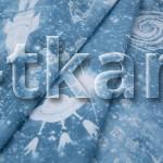 Лоскут Перкаль набивной - Космос (128 см * 150 см)